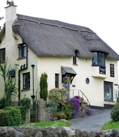 The thatched Primrose tearoom